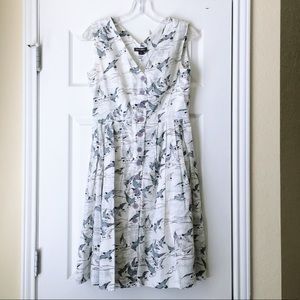 NWOT Pleated Button Down Dress
